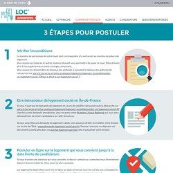 LOC'annonces — Paris.fr - Comment postuler