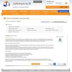 Annonces : Job étudiant - Jobs en Australie