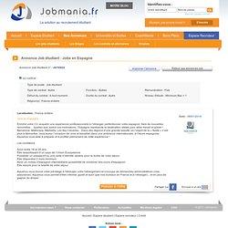 Annonces : Job étudiant - Jobs en Espagne