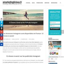 Les Annonces Instagram sont disponibles en France: 12 choses à savoir