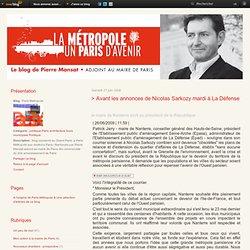 > Avant les annonces de Nicolas Sarkozy mardi à La Défense - Par