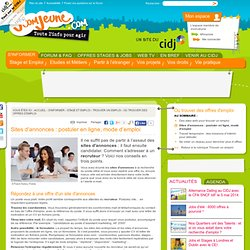 Jcomjeune.com : postuler en ligne, mode d'emploi