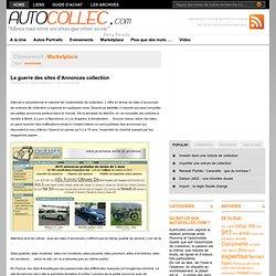La guerre des sites d'Annonces de voitures de collection Auto Collection