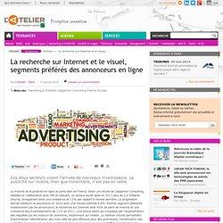 La recherche sur Internet et le visuel, segments préférés des annonceurs en ligne