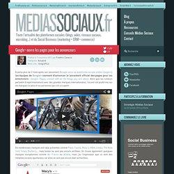 Google+ ouvre les pages pour les annonceurs