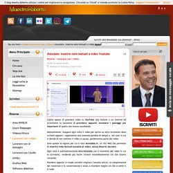 Annotate: inserire note testuali a video Youtube