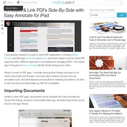 Annotate & Link PDFs Side-By-Side with Easy Annotate for iPad
