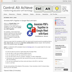 Annotate PDF's Together in Google Meet with Kami