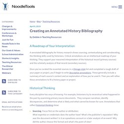 Creating an Annotated History Bibliography