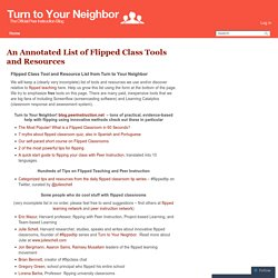 An Annotated List of Flipped Class Tools and Resources – Turn to Your Neighbor: The Official Peer Instruction Blog