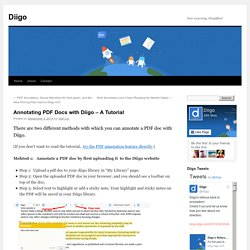 Annotating PDF Docs with Diigo – A Tutorial