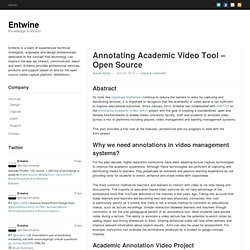 Annotating Academic Video Tool – Open Source