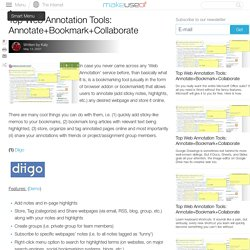 Top Web Annotation Tools: Annotate+Bookmark+Collaborate