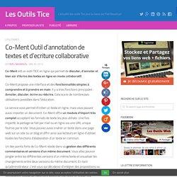 Co-Ment Outil d'annotation de textes et d'ecriture collaborative