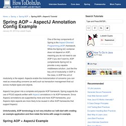Spring AOP - AspectJ Annotation Config Example - HowToDoInJava