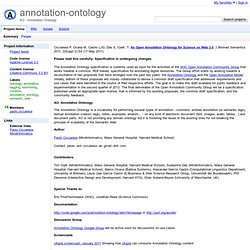 annotation-ontology - Project Hosting on Google Code