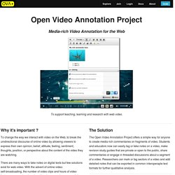 Open Video Annotation Project: ucfirst(Home)