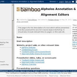 Alpheios Annotation & Alignment Editors - Technology Wiki - Project Bamboo Wiki