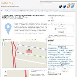 faire des annotations sur une carte géographique, plan de ville avec Doamap