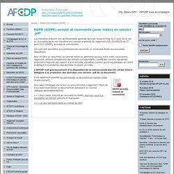 RGPD (GDPR) annoté et commenté (avec index) en version .pdf