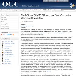 The OGC and CEN/TC 287 announce Smart Grid location interoperability workshop