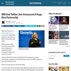 IBM And Twitter Announce Partnership