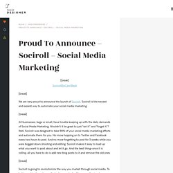 Proud To Announce - Sociroll - Social Media Marketing - Fundy Designer