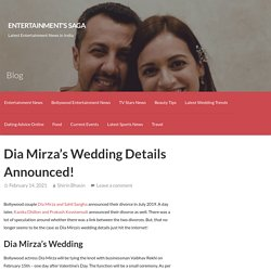 Dia Mirza's Wedding Details Announced!
