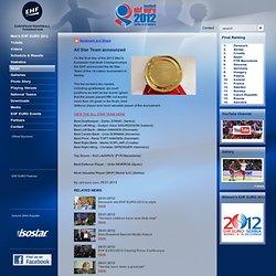 All Star Team announced - 2012 Men's EURO EHF European Handball Championship