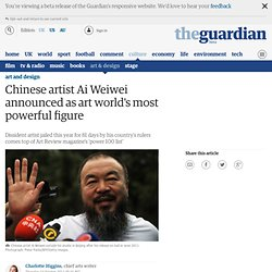Chinese artist Ai Weiwei announced as art world's most powerful figure