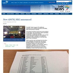 New ANCYL NEC announced:Sunday 6 September 2015