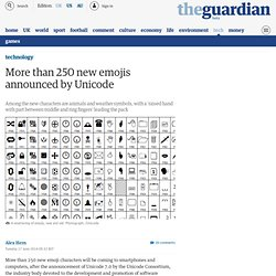 More than 250 new emojis announced by Unicode
