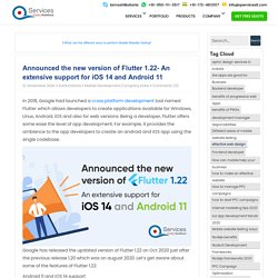 Announced the new version of Flutter 1.22- An extensive support for iOS 14 and Android 11