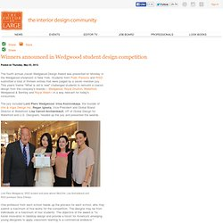 The Editor at Large > Winners announced in Wedgwood student design competition