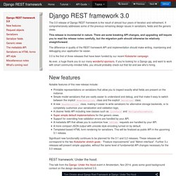 3.0 Announcement - Django REST framework