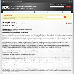 FDA 13/11/09 FDA Statement on Vibrio Vulnificus in Raw Oysters
