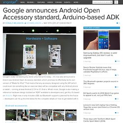 Google announces Android Open Accessory standard, Arduino-based ADK