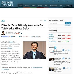 Yahoo Announces Alibaba Plan
