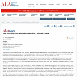AILA announces 2020 American Indian Youth Literature Awards