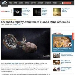 Société Deuxième annonce un plan de mine Astéroïdes: Nouvelles Découverte