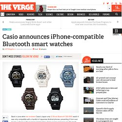 Casio announces iPhone-compatible Bluetooth smart watches