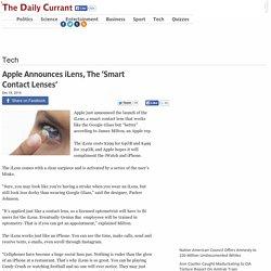 Apple Announces iLens, The 'Smart Contact Lenses'