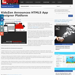 KidoZen Announces HTML5 App Designer Platform/