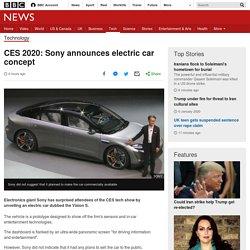 CES 2020: Sony announces electric car concept