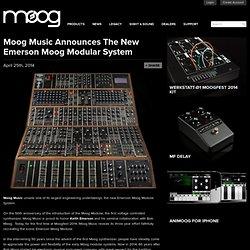 Moog Music Announces The New Emerson Moog Modular System