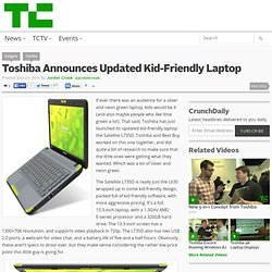 Toshiba Announces Updated Kid-Friendly Laptop