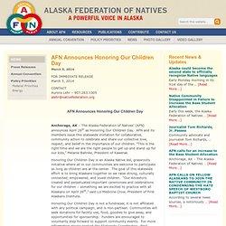 AFN Announces Honoring Our Children Day — Alaska Federation of Natives