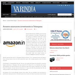 Amazon announces investments in Telangana