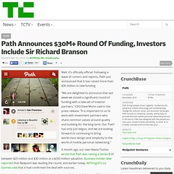 Path Announces $30M+ Round Of Funding