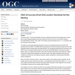 OGC Announces Smart Grid Location Standards Ad Hoc Meeting